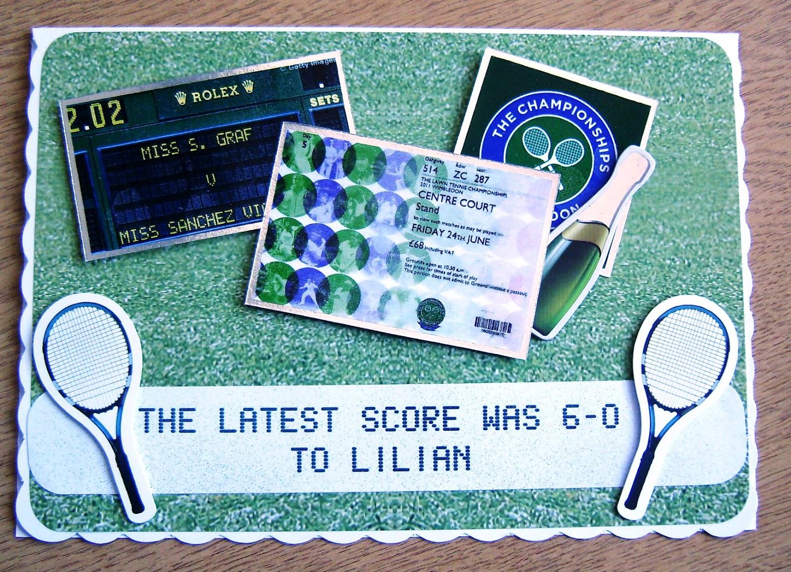 A Crafty Habit A 60th Birthday Card For A Tennis Fan