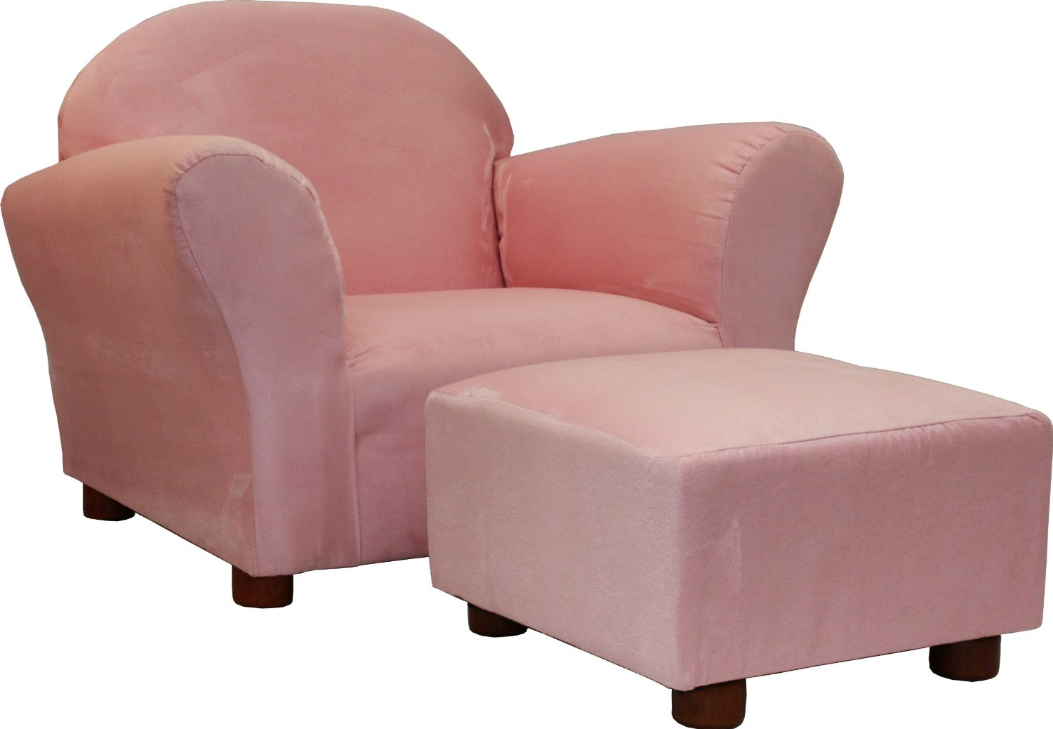 Forgiving Pink   Pink Upholstered Arm Chairs For Girls With Matching Ottoman