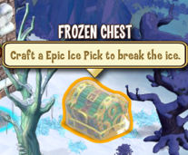 Frozen chest Epic Ice Pick