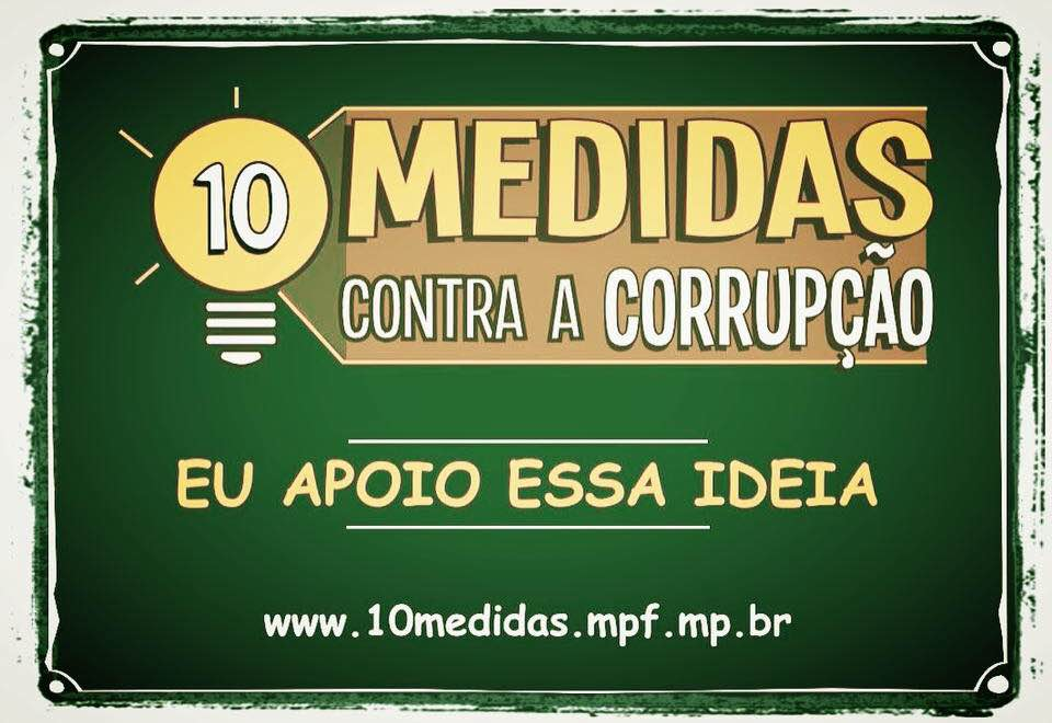 10 Medidas Contra a Corrupção