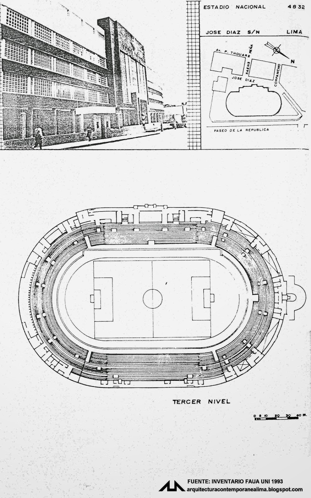 Arquitectura contemporanea de lima 4832 estadio nacional for Puerta 4 estadio nacional