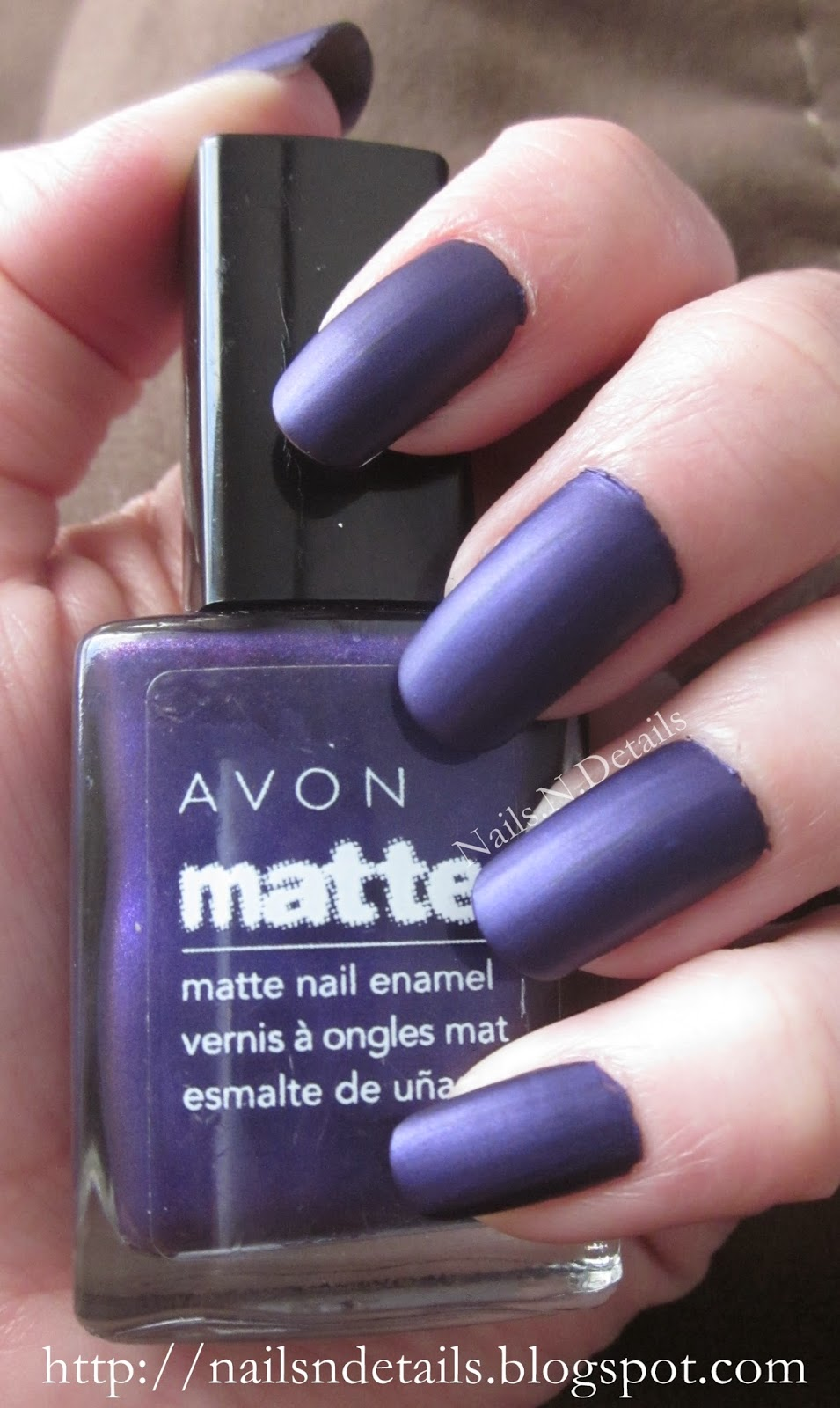 Nails.N.Details: Matte Purple with White Ghosts Nails