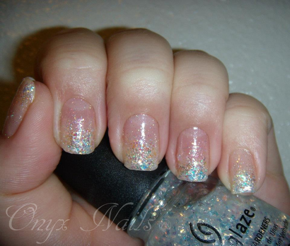 Onyx nails gradient nail art the white queen gradient glitter prinsesfo Gallery