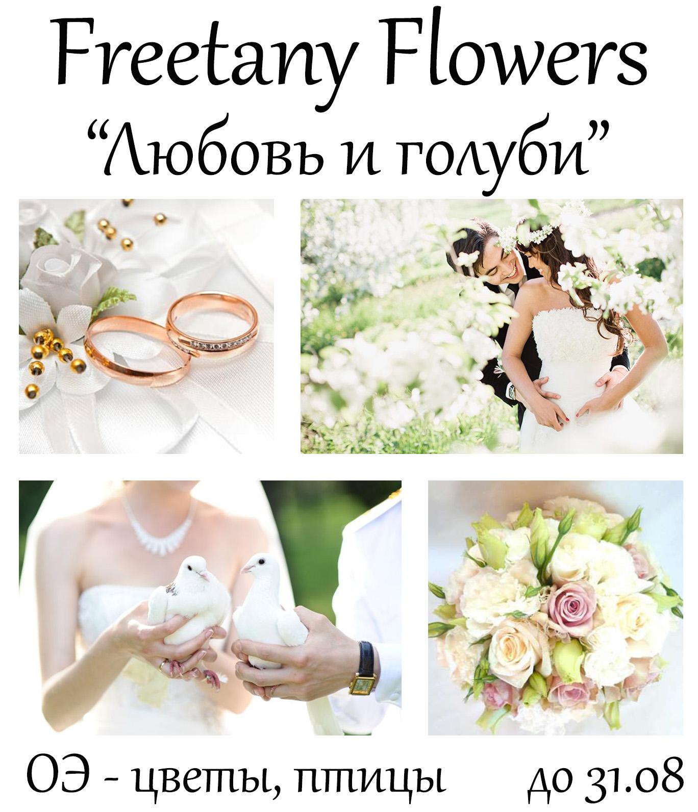 "Freetany Flowers: Задание августа ""Любовь и голуби"""