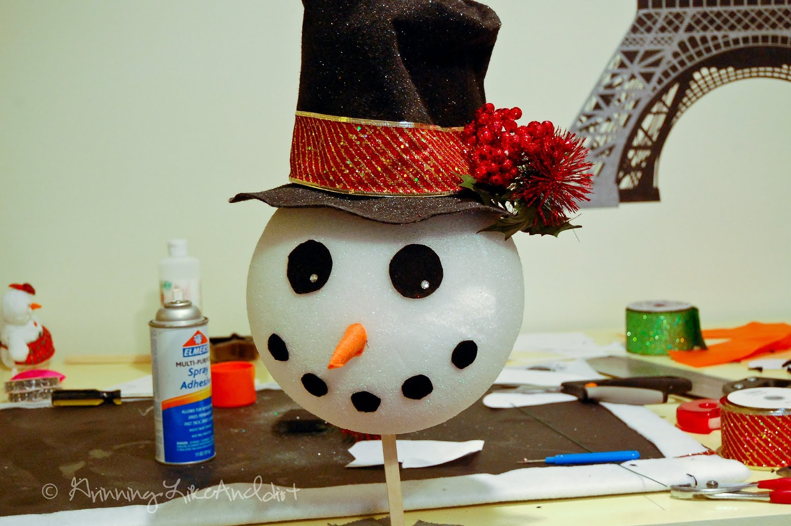 How to make a snowman christmas tree topper - How To Make A Snowman Christmas Tree Topper 11