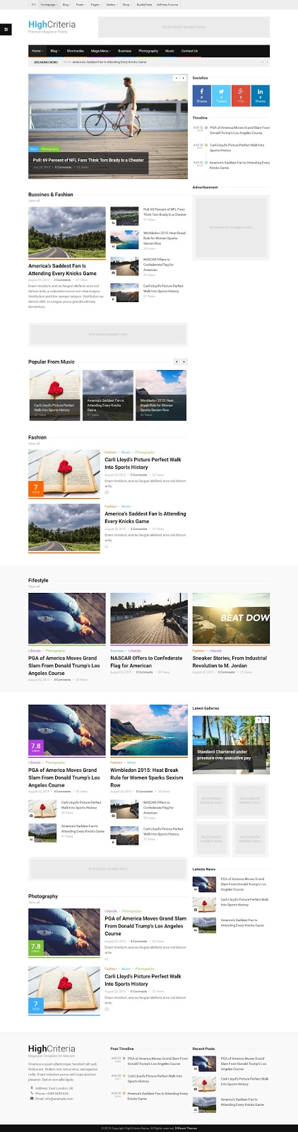Multipurpose Magazine Theme