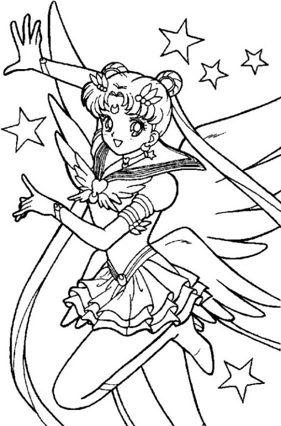 Dibujo de Sailor Moon para colorear