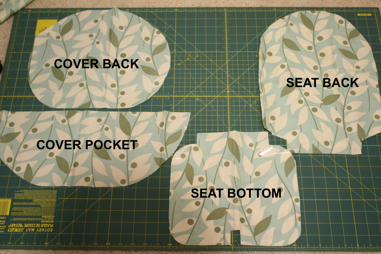 Tutorial: Cushioned Cover With Pocket For Antilop Highchair
