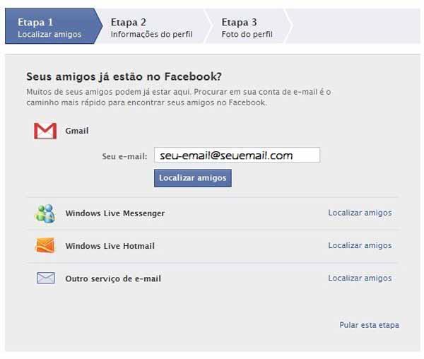Facebook - Tela de Localizacao de amigos