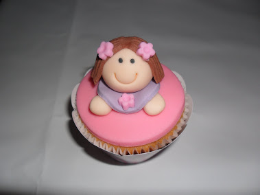 Cupcake  boneca de pano