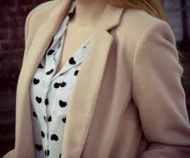 BEIGE BASIC COAT ♥