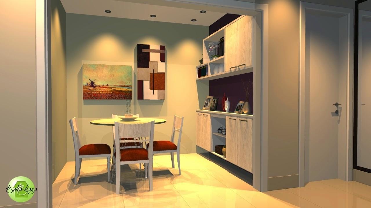 sala de jantar com móveis planejados