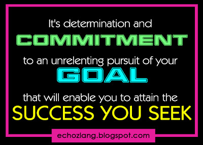 It's determination and commitment to an unrelenting pursuit of your goal