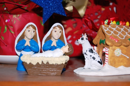 For more about the lesbian and gay Nativity scenes, see our previous posts: