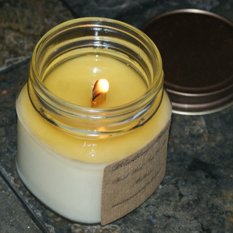 Handmade Wooden Wick Soy Candle from Blackberry Thyme