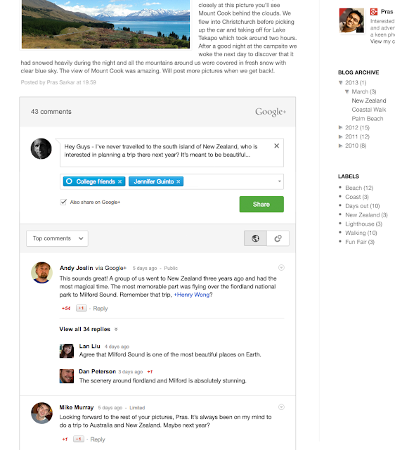 Comment Google + Available on Blogger