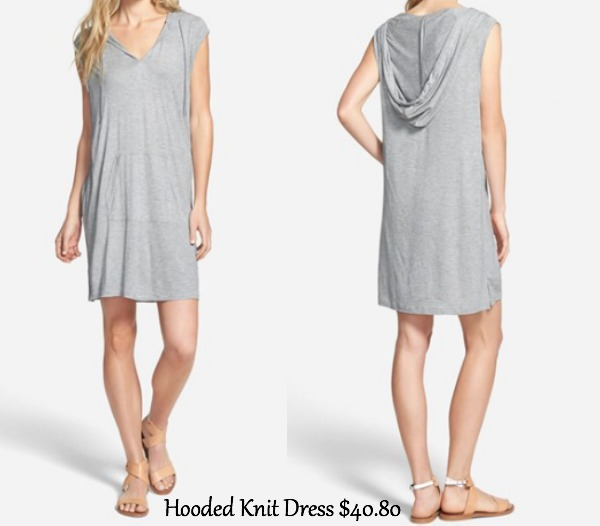 Hooded knit dress- need this in my life for the weekends!