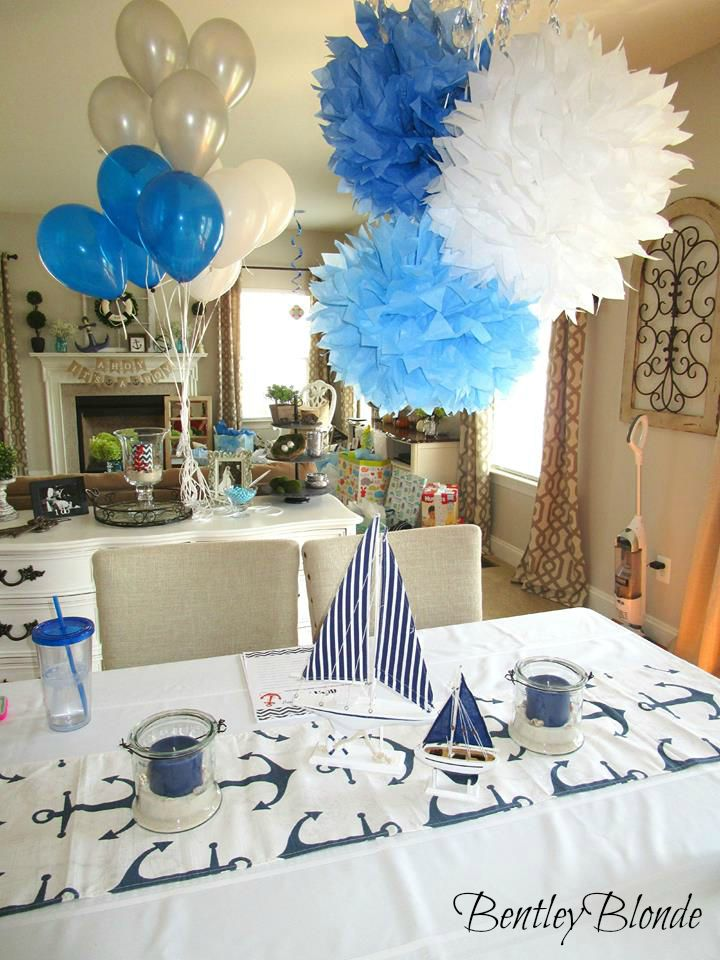 Bentleyblonde my nautical baby shower for Baby shower at home decorations