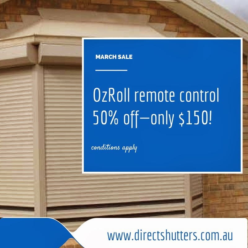 We specialise in the installation of OzRoll remote control unit for roller shutters