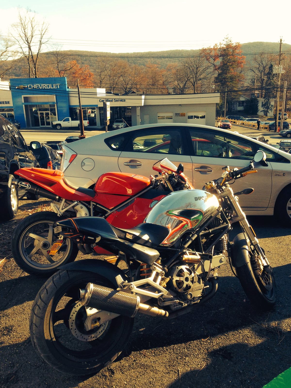 Rockwell Cycle and DESMO Ducati Holiday Parties with the DOCNYC from Tigho NYDUCATI Chromo Monster