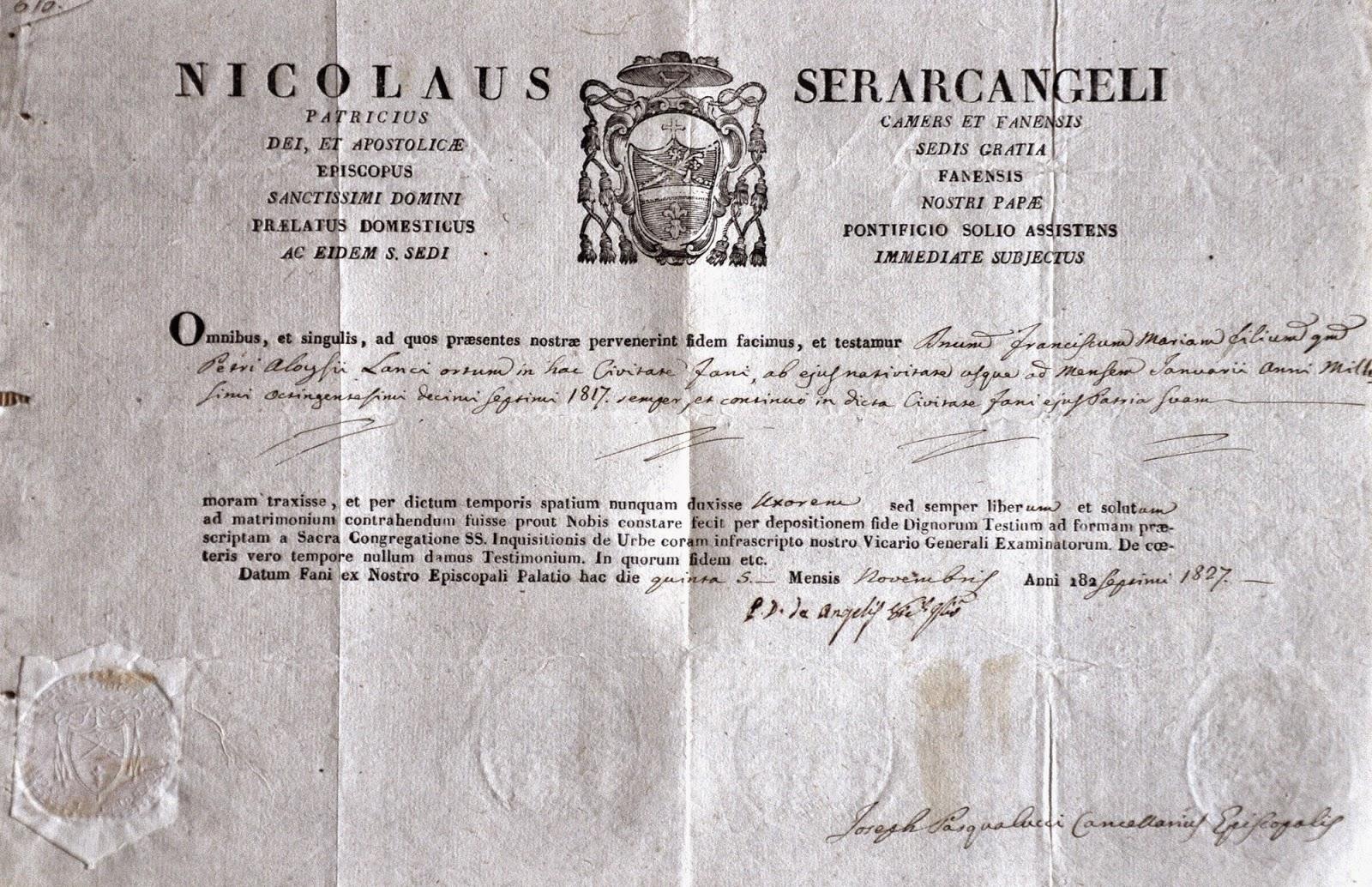 Dokument, który towarzyszył z pewnością włoskiemu architektowi Franciszkowi Marii Lanciemu. Jeżeli kogoś zainteresuje jego odczytanie - prześlę lepszy skan. Dokument w zbiorach KW.