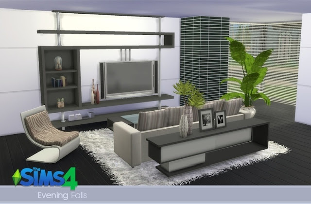 Download set de objetos sala de star evening falls the for Muebles para los sims 3