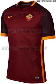 jual jersey AS ROMA terbaru musim depan Desain terbaru jersey As Roma home Nike musim 2015/2016