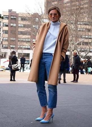 jeans and coat