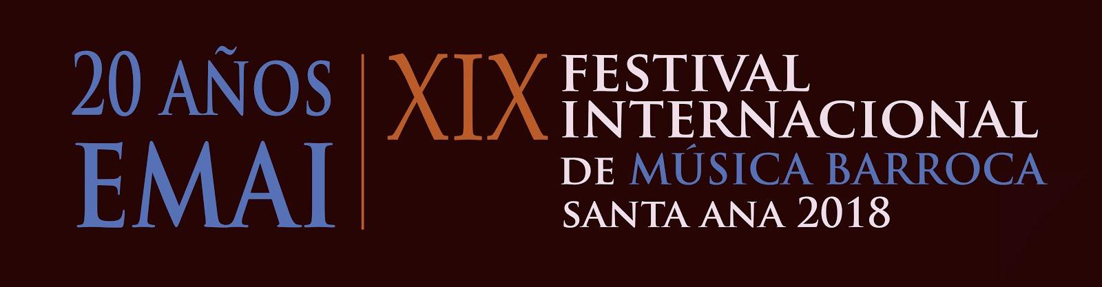 XIX FESTIVAL INTERNACIONAL DE MÚSICA BARROCA (FIMB)