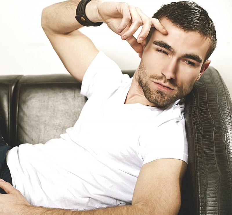 Hairy handsome man Alban Kryeziu from Serbia.