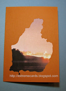 Maine silhouette card