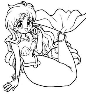 Desenho de Linda Sereia para Colorir