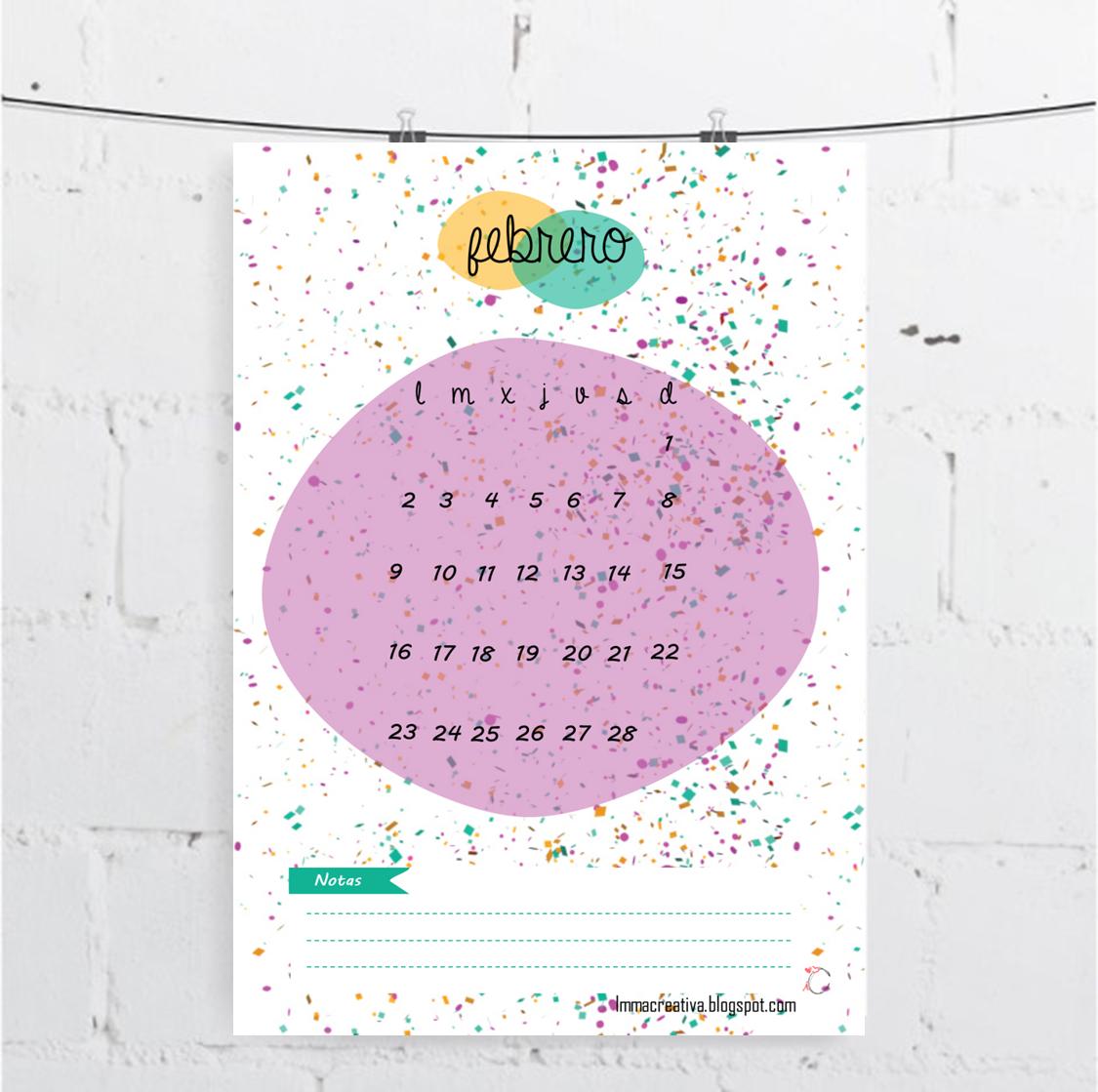 Calendario-Febrero-ImmaCreativa