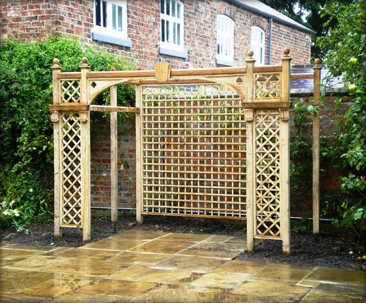 Home garden ideas popular garden trellis styles for Garden trellis ideas