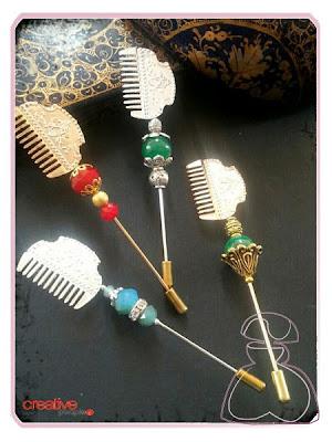 Nueva colección de Alfileres falleros modelo peinetas realizados por Sylvia Lopez Morant.