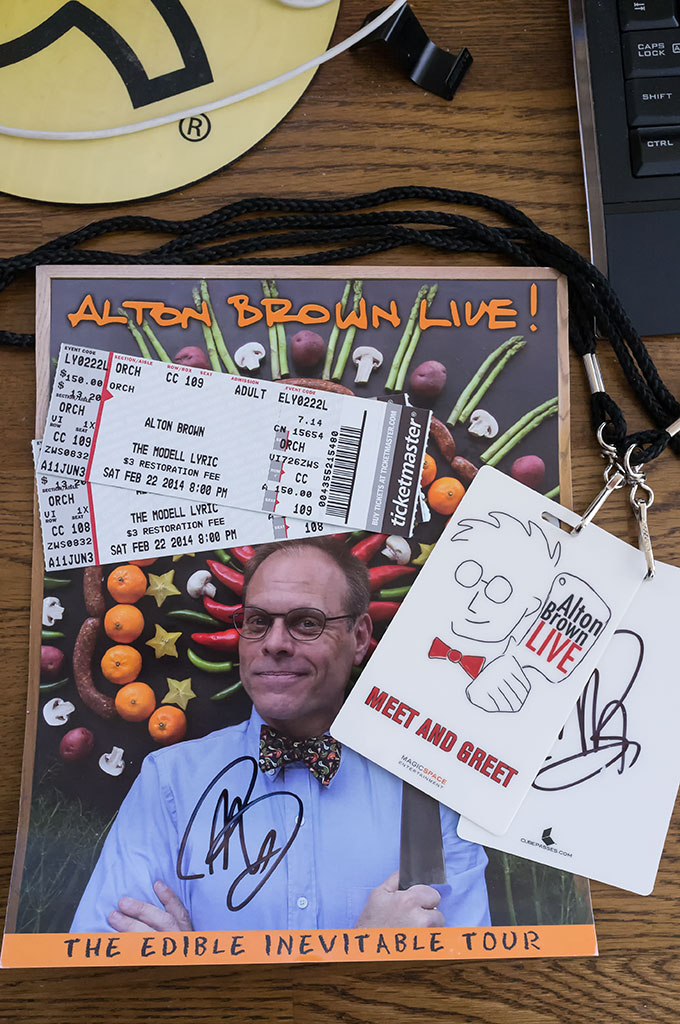 Alton Brown schwag