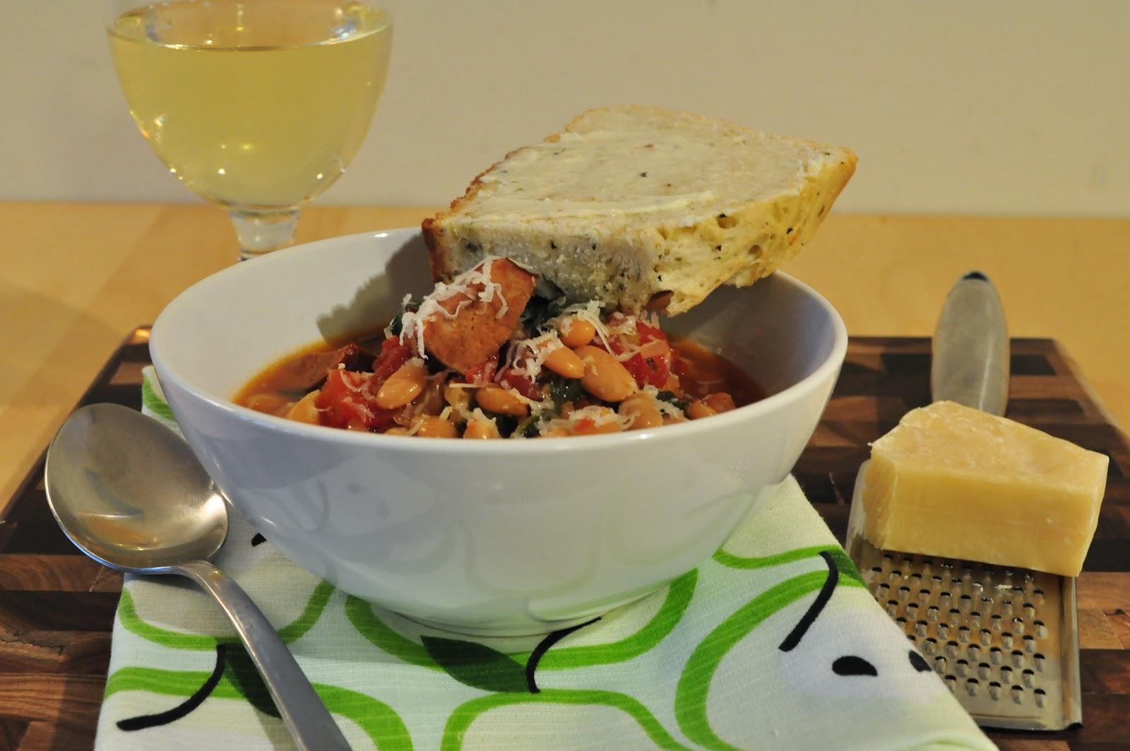 My Tiny Oven: Slow Cooker White Bean Stew with Kielbasa ...
