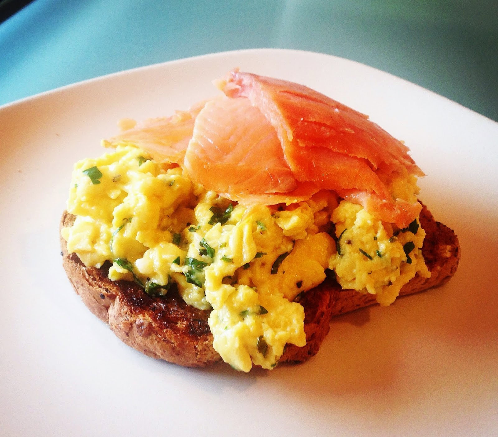 Herby Scrambled Eggs with Smoked Salmon