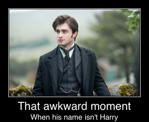 That Awkward Moment When His name Isn't Harry Potter