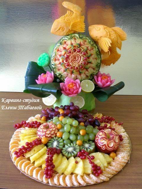 фруктовые композиции юбилей 60 лет сахалин