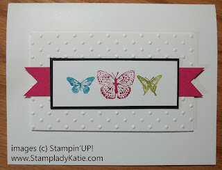 Card made with butterflies from Stampin'UP! stamp set: Kindness Matters