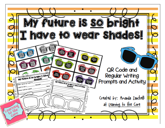 http://www.teacherspayteachers.com/Product/Writing-My-Future-is-so-Bright-I-have-to-Wear-Shades-1240318
