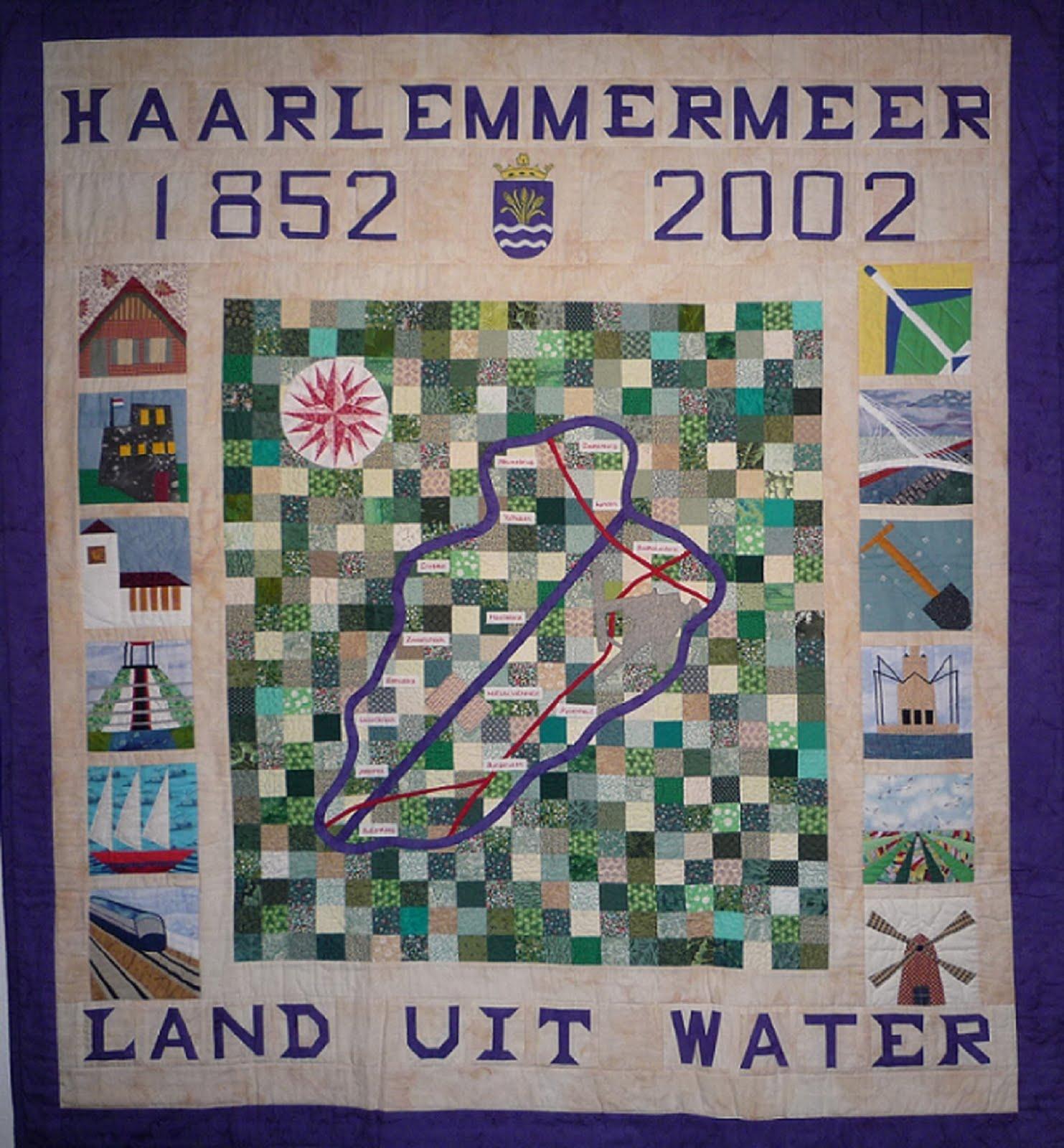 'Haarlemmermeerquilt'  collectie  Haarlemmermeermuseum