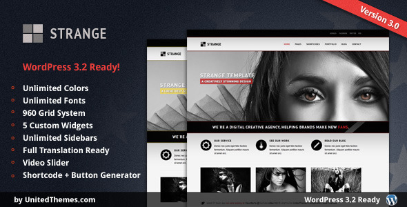 Image for Strange Theme by ThemeForest