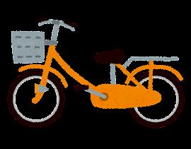 自転車のイラスト「オレンジ」