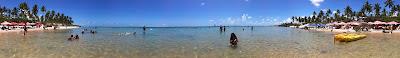panoramica da praia de muro alto