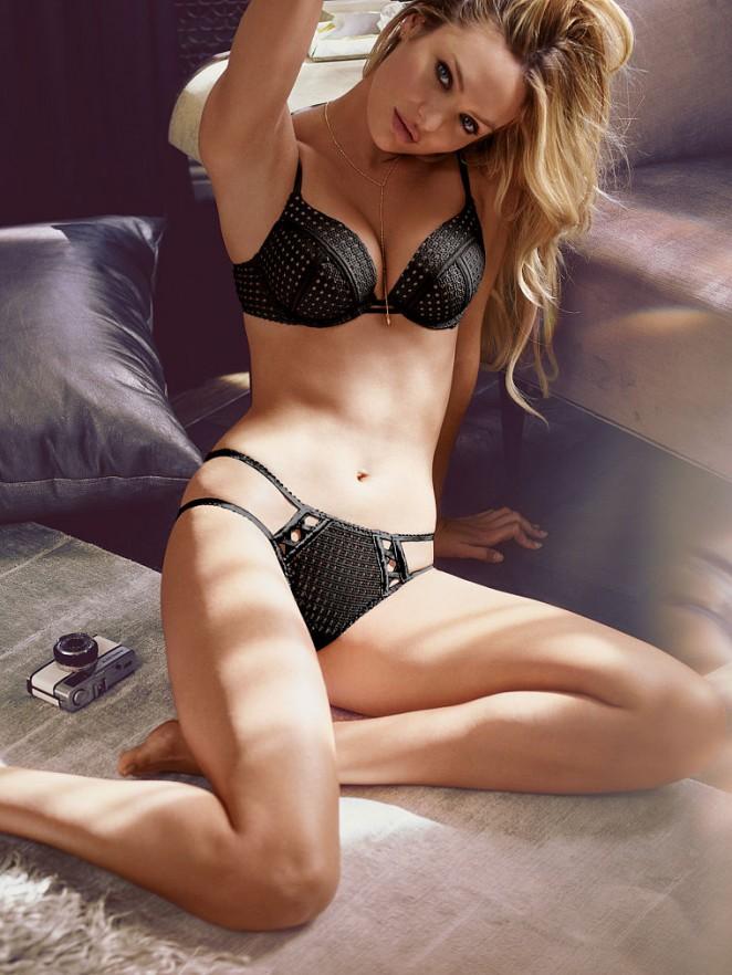 Candice Swanepeol models lingerie for Victoria's Secret August 2015 Lookbook