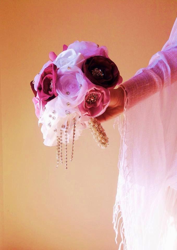 bouquet em tecido portugal