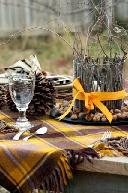 un picnic en otoño