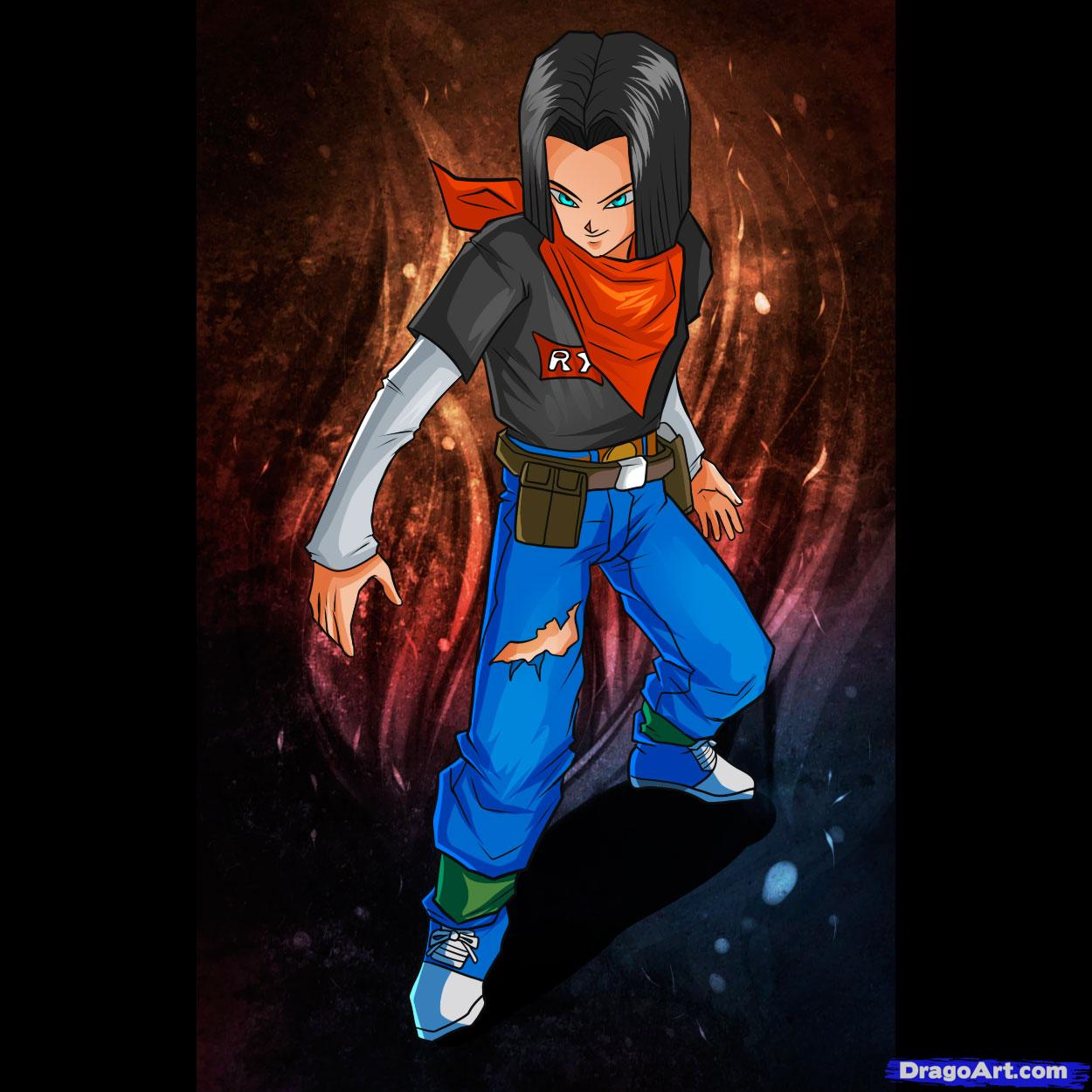 Dragon Ball Characters: Android #17 Dragonball Dbz Gt